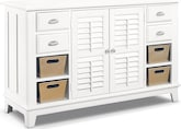 Accent and Occasional Furniture-Magnolia White Accent Cabinet