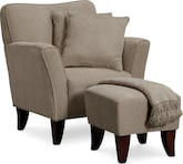 Living Room Furniture-The Celeste Collection-Celeste Chair Set with Pillows and Throw