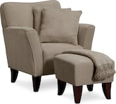 Living Room Furniture-Dorset Chair Set w/ Pillows and Throw
