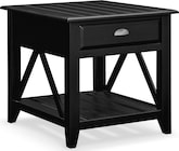 Accent and Occasional Furniture-Carolina Coastal Black End Table