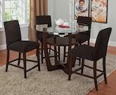 Dining Room Furniture-The Alcove Chocolate II Collection-Alcove II Counter-Height Table