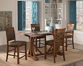 Dining Room Furniture-The Greenfield Walnut Collection-Greenfield Walnut Counter-Height Table