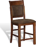 Dining Room Furniture-Greenfield Walnut Counter-Height Stool