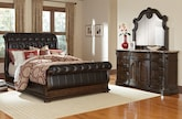 Bedroom Furniture-Lafayette II Pecan 5 Pc. Queen Bedroom