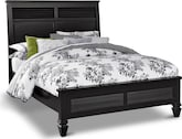 Bedroom Furniture-Peony Black Queen Bed