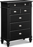 Bedroom Furniture-Peony Black Chest