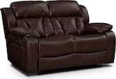 Living Room Furniture-Marshall Reclining Loveseat