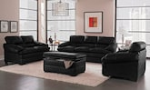 Living Room Furniture-The Bremont Black Collection-Bremont Black Sofa