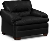 Living Room Furniture-Bremont Black Chair