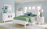 Bedroom Furniture-The Peony White Collection-Peony White Queen Bed