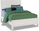 Bedroom Furniture-Peony White Queen Bed