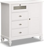 Bedroom Furniture-Peony White Media Chest