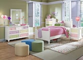 Kids Furniture-The Riley White Collection-Riley White Twin Bed