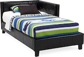 Kids Furniture-Taylor Black Full Corner Bed