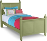 Kids Furniture-Seaside Green Twin Bed