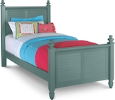 Kids Furniture-Seaside Blue Twin Bed