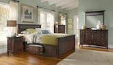 Bedroom Furniture-The Wentworth Dark Storage Collection-Wentworth Dark Storage Queen Storage Bed