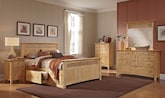 Bedroom Furniture-The Wentworth Light Storage Collection-Wentworth Light Storage Queen Storage Bed