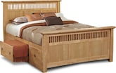 Bedroom Furniture-Wentworth Light Storage Queen Storage Bed