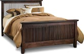 Bedroom Furniture-Wentworth Dark King Bed