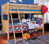 Kids Furniture-The Wentworth III Light Collection-Wentworth III Light Twin Bunk Bed