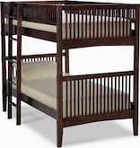 Kids Furniture-Wentworth III Dark Twin Bunk Bed