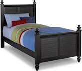 Kids Furniture-Mayflower Black Twin Bed