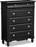 Kids Furniture-Seaside Black Chest