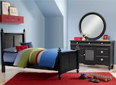 Kids Furniture-Mayflower Black 5 Pc. Full Bedroom