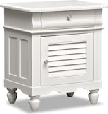 Kids Furniture-Mayflower White Nightstand