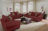 Living Room Furniture-The Strauss Wine Collection-Strauss Wine Sofa