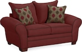 Living Room Furniture-Strauss Wine Loveseat