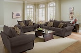 Living Room Furniture-The Strauss Chocolate Collection-Strauss Chocolate Sofa