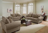 Living Room Furniture-The Strauss Tan Collection-Strauss Tan Sofa