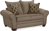 Living Room Furniture-Strauss Tan Loveseat