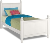 Kids Furniture-Seaside White Twin Bed