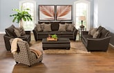 Living Room Furniture-The Barbados Collection-Barbados Loveseat