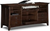 Home Office Furniture-Wentworth Dark Workstation Credenza