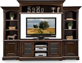 Entertainment Furniture-Amherst 4 Pc. Entertainment Wall Unit