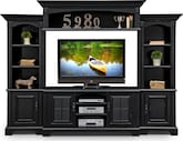 Entertainment Furniture-Amherst II 4 Pc. Entertainment Wall Unit