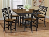 Dining Room Furniture-The Sophie Black Collection-Sophie Black Counter-Height Table