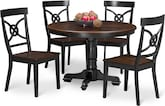 Dining Room Furniture-Cunningham 5 Pc. Dinette