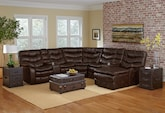Living Room Furniture-The Clayton Collection-Clayton 5 Pc. Power Reclining Sectional