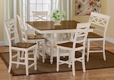 Dining Room Furniture-The Sophie Cream Collection-Sophie Cream Counter-Height Table