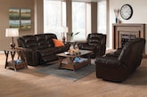 Living Room Furniture-The Collinsville Collection-Collinsville Dual Reclining Sofa