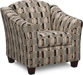 Living Room Furniture-Salina Taupe Accent Chair