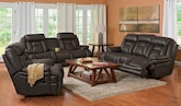 Living Room Furniture-The Avenger Collection-Avenger Dual Power Reclining Sofa