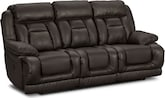 Living Room Furniture-Springer Godiva Dual Power Reclining Sofa