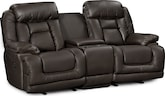 Living Room Furniture-Springer Godiva Dual Power Reclining Loveseat