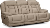Living Room Furniture-Springer Wheat Dual Power Reclining Sofa